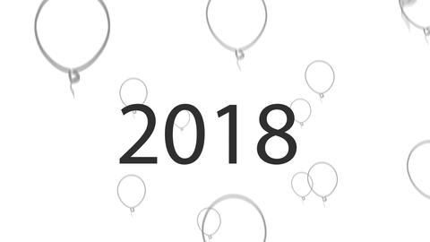2018 Grey vector Balloons Animation