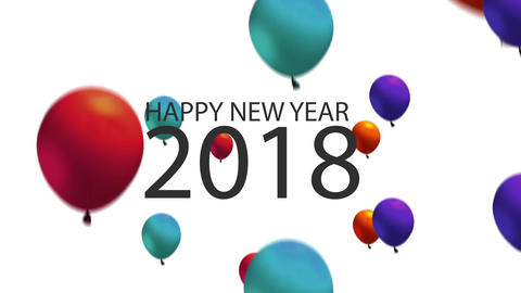 2018 New year Balloons