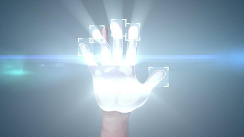 Fingerprint Access. 3d animation Stock Video Footage