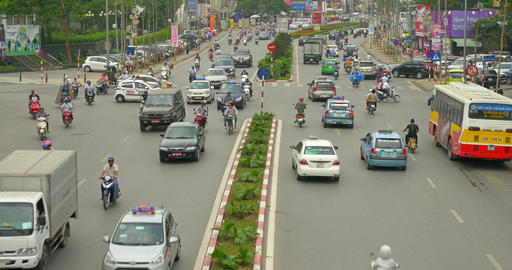 Chaotic Haighway In Hanoi Vietnam Live Action