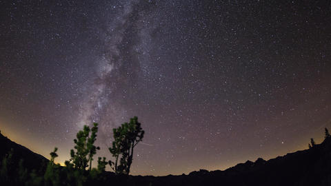 Stars and Milky Way Night Time Lapse Filmmaterial