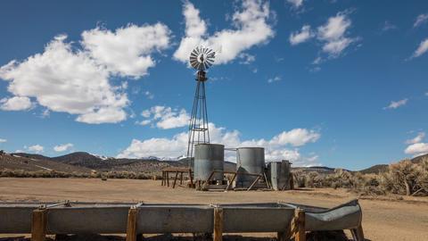 Desert Windmill Time Lapse Footage
