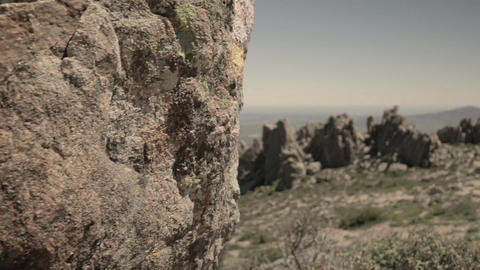 Stone and rocks at the mountain Stock Video Footage