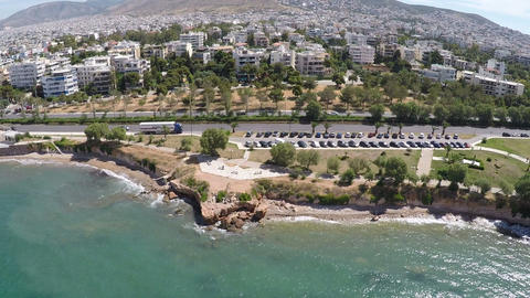 Beach of Voula in Athens 2 Footage