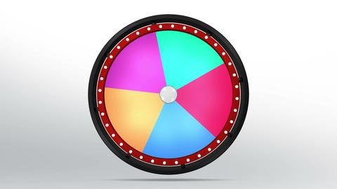 Black fortune wheel of 5 area 4K 画像