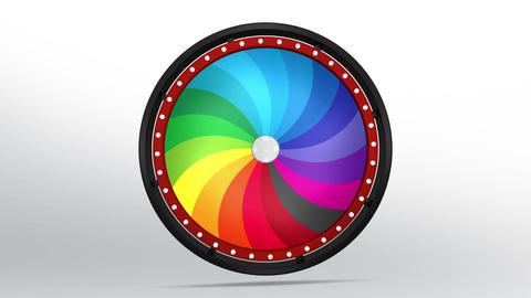 Black fortune wheel of 18 area twirl 4K Animation