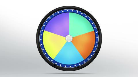 Black fortune wheel of 5 area blue 4K Animation