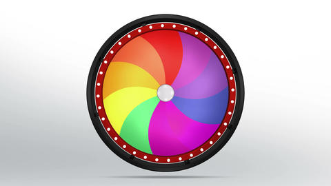 Black fortune wheel of 10 area twirl 4K Animation