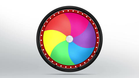 Black fortune wheel of 6 area twirl 4K Animation
