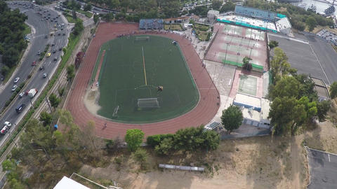Aerial View of Sports Facilities during an Event 2 ビデオ