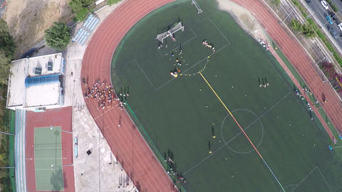 Aerial View of Sports Facilities during an Event 3 Live Action