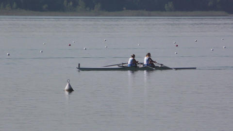 Rowing Championship Double Scull Woman Footage