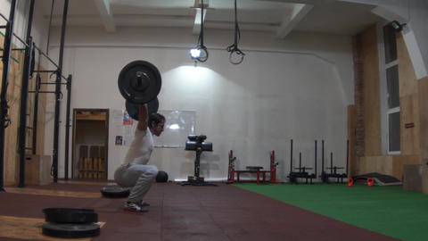Slow Motion Weightlifting Footage