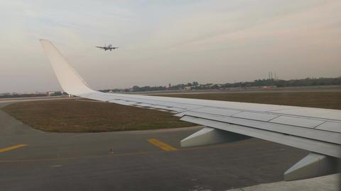Aircraft Window Landing 4k Footage
