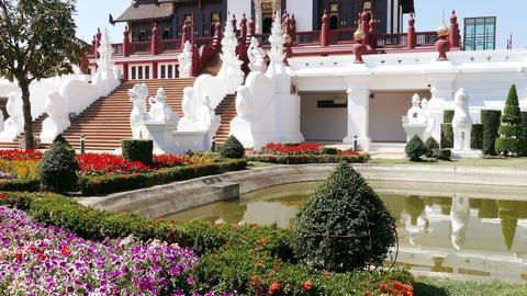 Buddhist Temple Architectural Forms Wat Lok Molee Thailand 4k Footage