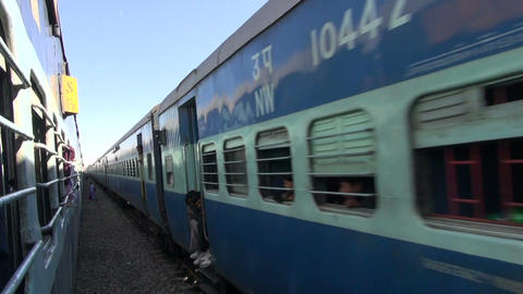 Rajasthan, India, December 2012 - view from train on sunny day Footage