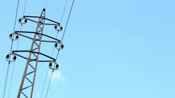 high voltage with blue sky Footage