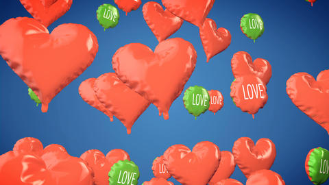 Heart shape balloons. Valentine's Day Animation