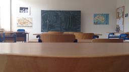 school class - empty with board Footage
