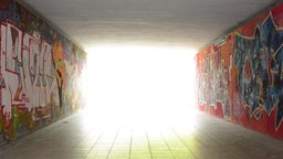 pedestrian underpass - light at end of tunnel Footage