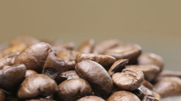Frsesh roasted coffee beans rotation with copyspace Footage