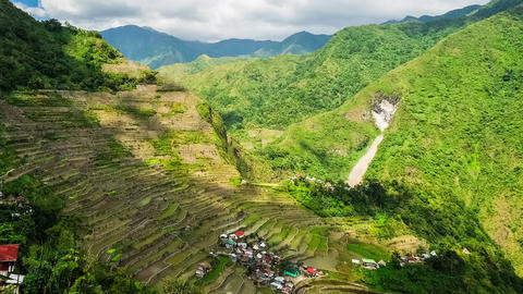 Rice terraces fields in Ifugao province mountains. Banaue, Philippines Footage