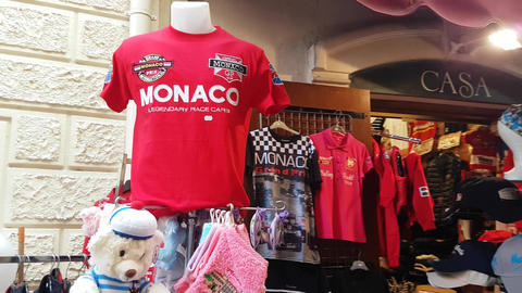 Souvenirs Shop Monaco Grand Prix Footage