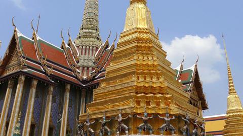 Wat Phra Kaew Bangkok 4K Footage