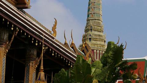 Wat Phra Kaew Bangkok Thailand 4K Footage