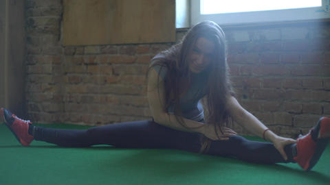 Sexy Girl Doing Stretching Footage