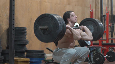 Man Lifting Weights, Crossfit Footage