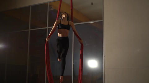 Aerial Silk Performer Live Action