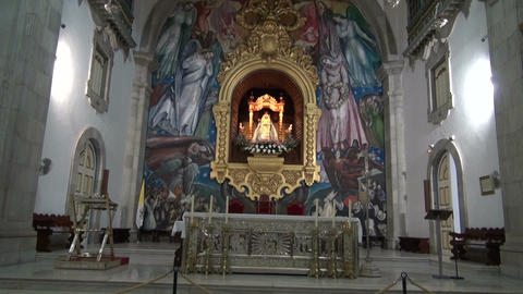 Beautiful ornate interior of the church in Candelaria. Canary islands Footage