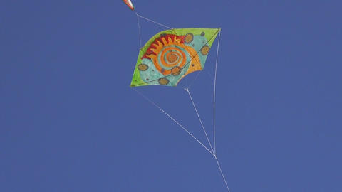 Handmade kite flying in the sky Footage