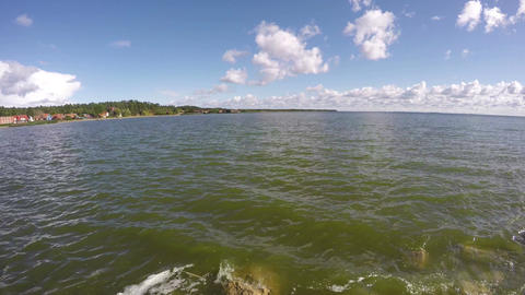 Curonian lagoon shore, time lapse 4K Footage