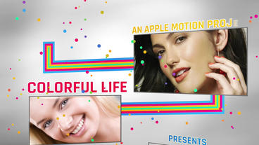Colorful Life Apple Motion Template