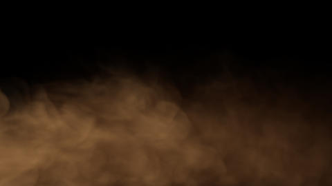 Smoke Background Loop with alpha - Warm Color Smoke Animation