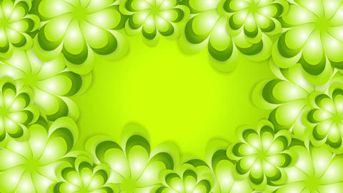 Green spring abstract flowers video animation Animation