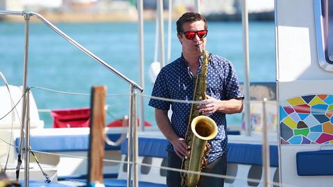 Man Playing Saxophone Footage