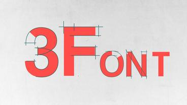 Three Animated Fonts Apple Motion Template