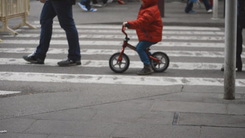 Many Pedestrians On The Road Footage