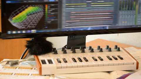 Modern Composer Tools In Action Footage