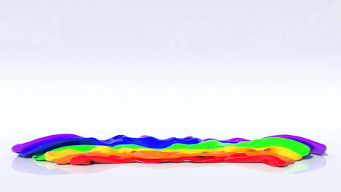 Inflated Rainbow Animation