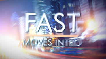 Fast Moves Intro - Apple Motion and Final Cut Pro X Template Appleモーションプロジェクト