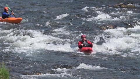 Athletes paddling at Paivafest Footage