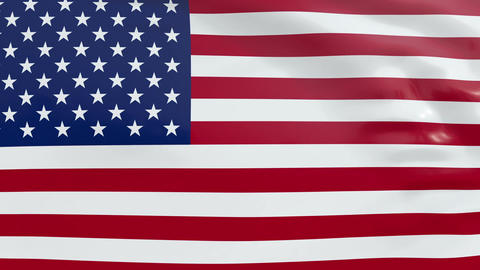 Flag of the United States of America CG動画素材