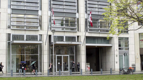 Canadian Embassy in Berlin Germany Straight On GIF
