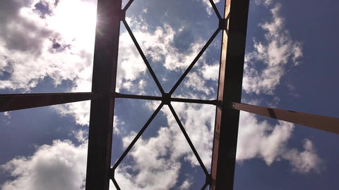 iron bridge and sky Footage