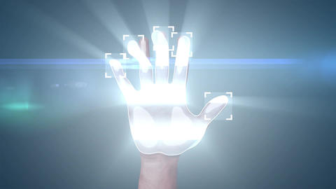 Fingerprint Access, 3d animation with the logos of... Stock Video Footage