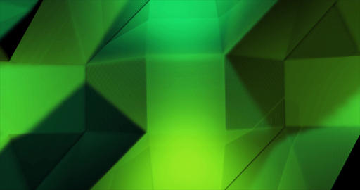Green Emerald Low Poly geometric waving background Animation
